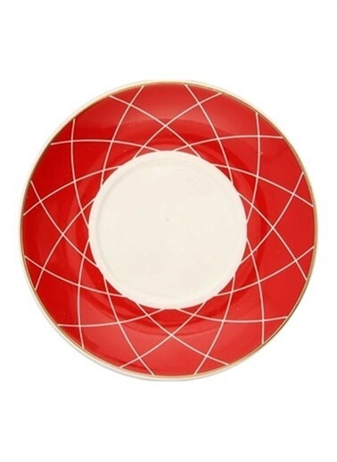 Vitale 6'Lı Porselen Kahve Fincan Seti He0004 Renkli